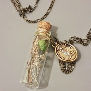Long Necklace with bottle charm